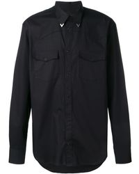 Roberto Cavalli Рубашка С Бахромой - Черный