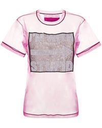 Viktor & Rolf I'm With Stupid シアーtシャツ - ピンク