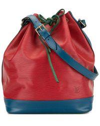 Louis Vuitton 1995 Pre-owned Noe Drawstring Shoulder Bag - Red