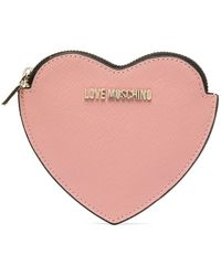 Love Moschino Signature Heart-shaped Wallet - Pink