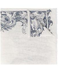 Etro Sjaal Met Paisley-print - Wit