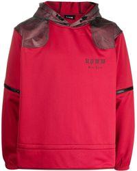 U.P.W.W. Contrast-panel Zip-off Sleeves Hoodie - Red