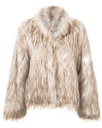 Unreal Fur テクスチャード ジャケット - ブラウン