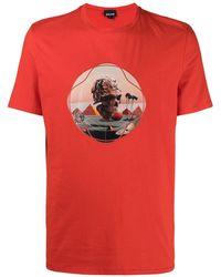 Just Cavalli グラフィック Tシャツ - レッド