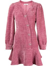 B+ AB Kleid mit Volant-Saum - Pink