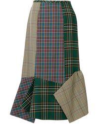 Enfold Mixed Check Skirt - Multicolor