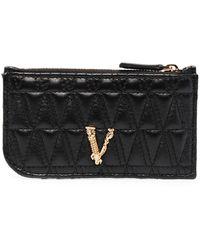 Versace Стеганый Картхолдер Virtus - Черный