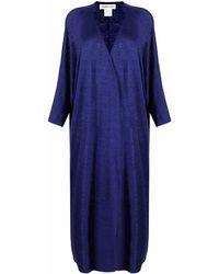 Lamberto Losani Fine-knit Cardi-coat - Blue
