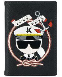 Karl Lagerfeld - Captain Karl Passport Holder - Lyst