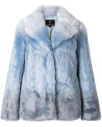 Unreal Fur Jas Van Imitatiebont - Blauw