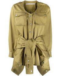 Alexander Wang Tie-waist Cotton Playsuit - Green