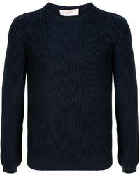 Cerruti 1881 リブニット セーター - ブルー