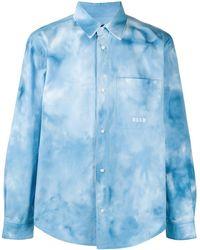 MSGM Рубашка С Принтом Тай-дай - Синий