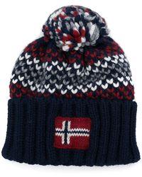 Napapijri - Knitted Bobble Hat - Lyst
