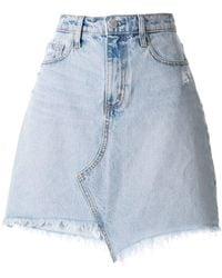 Nobody Denim Piper Skewed スカート - ブルー