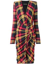 Alexandre Vauthier - Checked Print Dress - Lyst