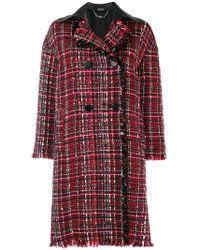 Alexander McQueen - Double Breasted Tweed Coat - Lyst