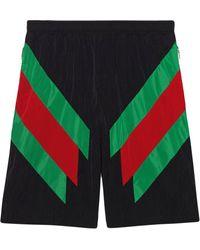 Cortos Intarsia Web Negro De Detalle Deporte Pantalones Con ZTkiOXPu