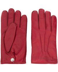 Alexander McQueen Перчатки С Тисненым Логотипом - Красный