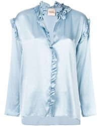 Nude - Metallic Frill-trim Blouse - Lyst