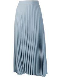 MM6 by Maison Martin Margiela プリーツ スカート - ブルー