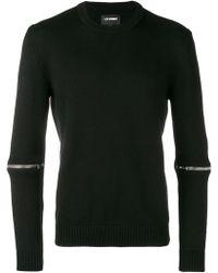 Les Hommes Zip Embellished Sweater - ブラック