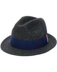 Paul Smith Bright Stripe Trilby Hat - Gray