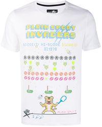 Philipp Plein T-Shirt mit grafischem Print - Weiß