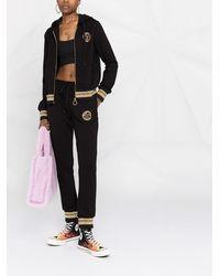 Versace Jeans Couture ロゴストライプ ジョガーパンツ - ブラック