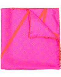 Louis Vuitton Платок Pre-owned С Монограммой - Розовый