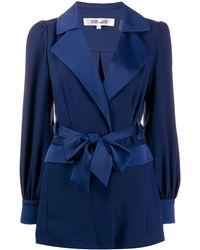 Diane von Furstenberg 'Stassie' Blazer mit Satinschleife - Blau