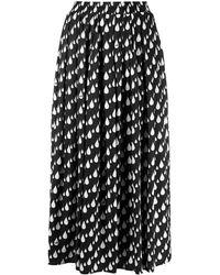 Love Moschino プリント スカート - ブラック