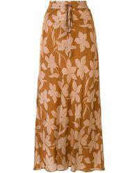 Lee Mathews Momo Bias Skirt - Brown