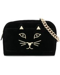 Charlotte Olympia - Embroidered Kitty Satchel - Lyst