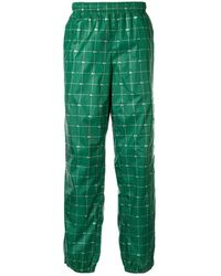 Supreme X Lacoste Reflective Grid Track Trousers - Green