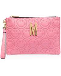 Moschino Клатч M Smiley - Розовый