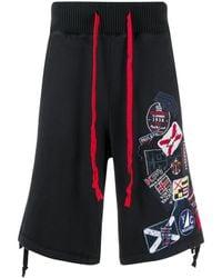 Paul & Shark Shorts Met Geborduurd Logo - Zwart