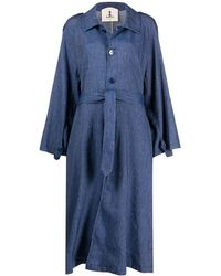 Barena Oversized Denim Coat - Blue