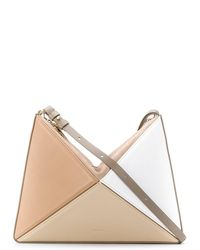 Mlouye Geometric Leather Shoulder Bag - Multicolour