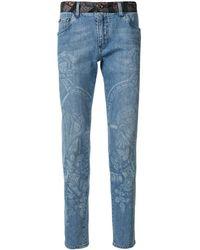 "Dolce & Gabbana Jeans mit ""Henry VIII""-Print - Blau"