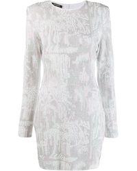 Balmain - Облегающее Платье С Заклепками - Lyst
