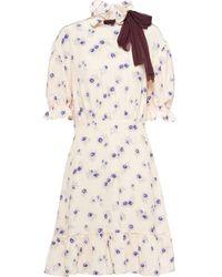 Miu Miu ローズプリント ドレス - マルチカラー