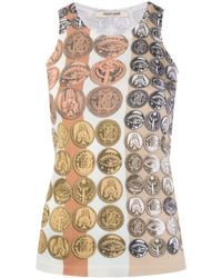 Roberto Cavalli Stripes & Coins Knitted Tank Top - Multicolour