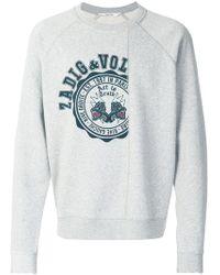 Zadig & Voltaire - Crest Print Sweatshirt - Lyst