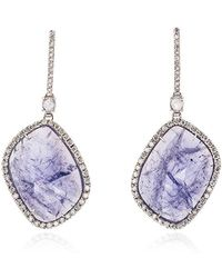 Kimberly Mcdonald - Purple And White Gold Quartz And Diamond Earrings - Lyst