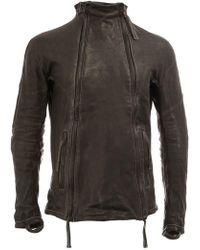 Boris Bidjan Saberi Funnel Neck Double Zip Jacket - Black