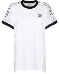 Stella McCartney Sheer Lace T-shirt - White