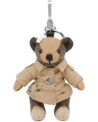 Burberry Pendentif Thomas Bear - Multicolore