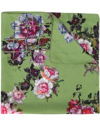 Preen By Thornton Bregazzi Floral Embroidered Neck-tie Scarf - Green