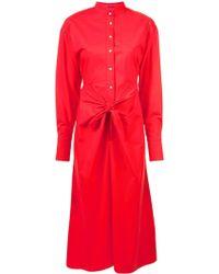 Proenza Schouler Платье-рубашка С Завязкой - Красный